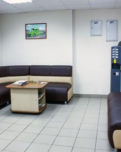 Зона отдыха с кофейным автоматом